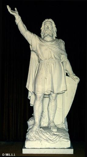 Statue en plâtre d'Alain Barbetorte, Amédée-Renée Médard, 1861