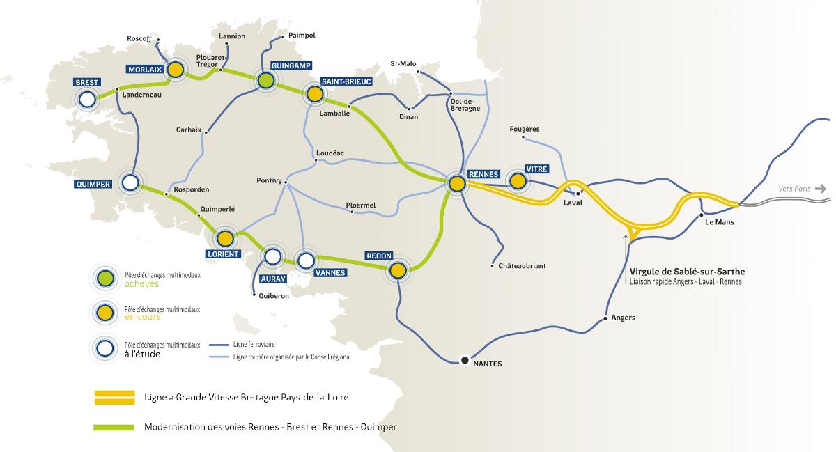 Carte Tgv Bretagne.Approche Des Territoires Du Quotidien Becedia
