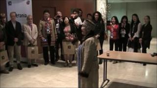 """Rite de bénédiction du colloque """"Minorités et mondialisation"""" le vendredi 24 octobre 2014"""