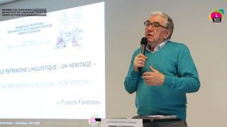 « Le patrimoine linguistique : un héritage » par Francis Favereau